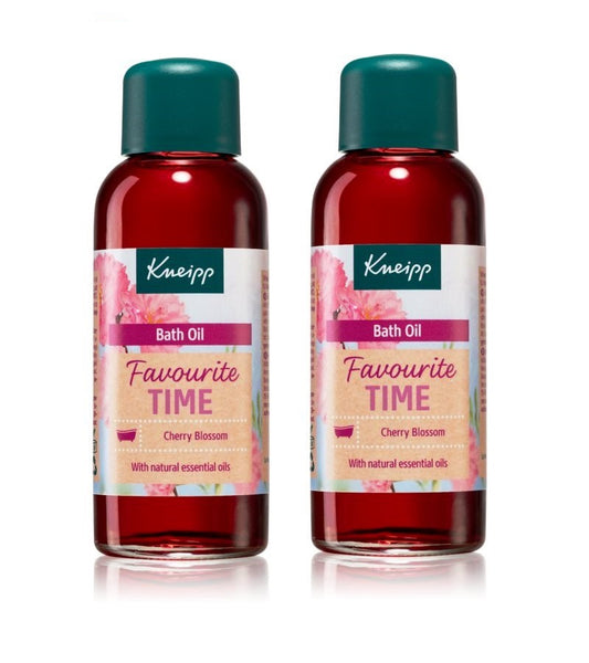 2xPack Kneipp Favorite Time Cherry Blossom Nourishing Bath Oil 200 ml