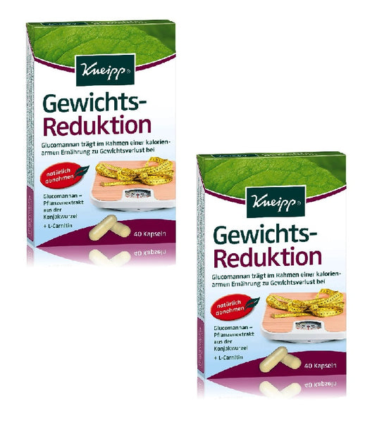 2xPack Kneipp Weight Reduction Capsules - 80 Pieces