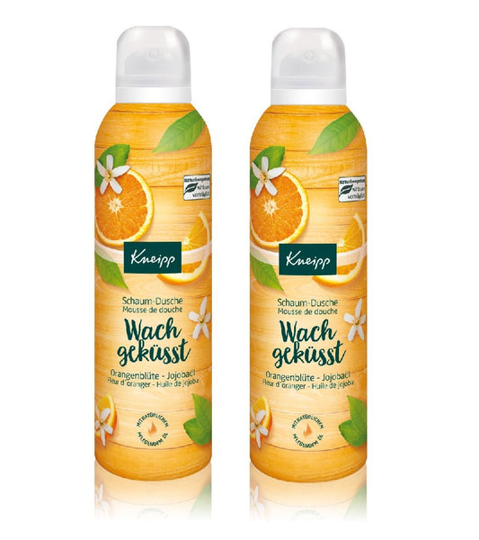2xPack Kneipp Kissed Awake Orange Blossom & Jojoba Oil Shower Foam - 400 ml