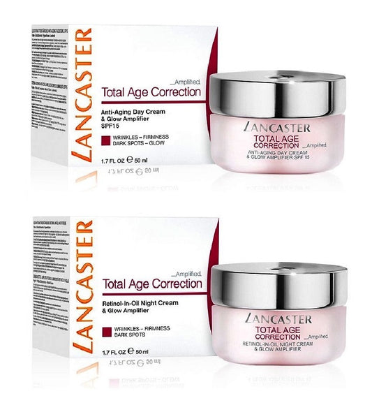 Lancaster Total Age Correction Amplified Day & Retinol-in-Oil Night Cream Set - 100 ml