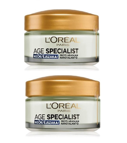 2xPack L'Oréal Paris Age Specialist Anti-wrinkel 45+ Night Cream - 100 ml