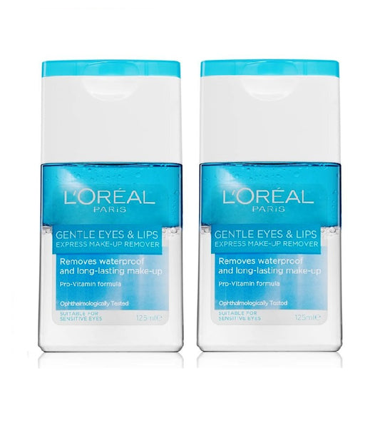 2xPack L'Oréal Paris Gentle Eye and Lip Make-up Remover for Sensitive Skin - 250 ml