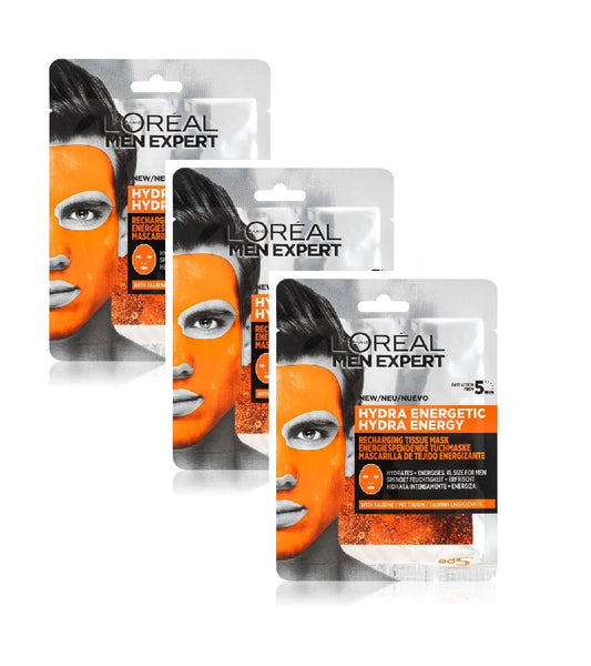 L'Oréal Paris Men Expert Hydra Energetic Moisturizing Sheet Mask for Men - 90 g