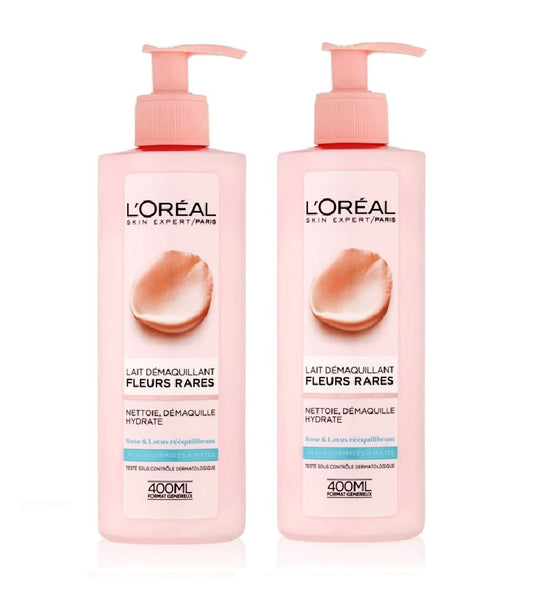 2xPack L'Oréal Paris Precious Flowers Make-up Removal Milk for Normal to Combination Skin - 800 ml