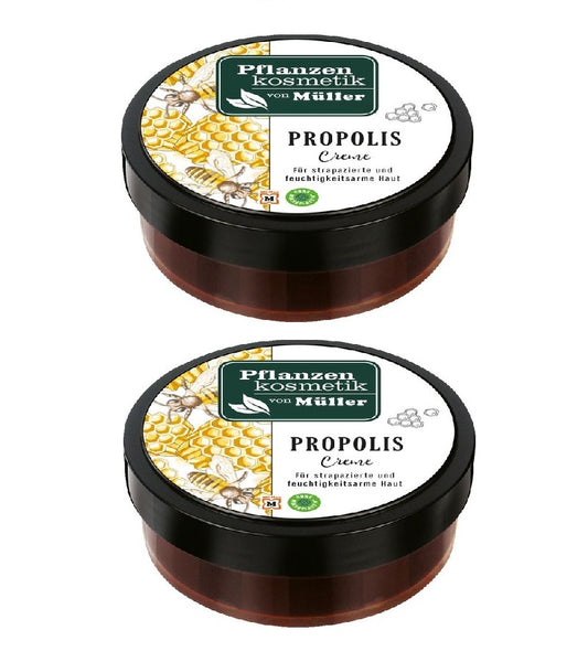2xPack Müller Plant Cosmetic Propolis and Beeswax Cream - 200 ml