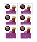 6xPack Nescafe Dolce Gusto Chococino Caramel Coffee Capsules - 96 Capsules