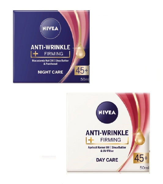 2xPack Nivea Anti-Wrinkle Firiming Day & Night Cream Set 45+ - 100 ml