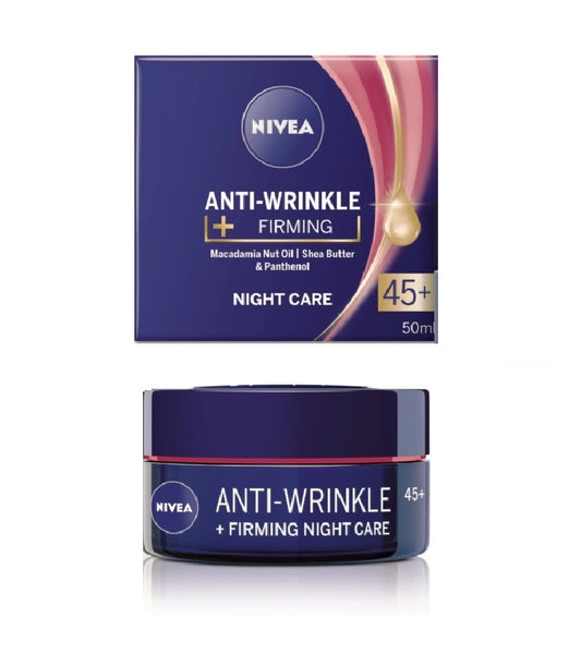 2xPack Nivea Anti-Wrinkle Firiming Night Cream 45+ - 100 ml