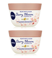 2xPack Nivea Cherry Blossom & Jojoba Oil Body Soufflé - 400 ml