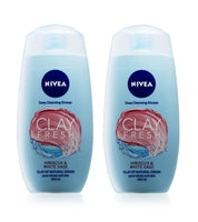 2xPack Nivea Clay Fresh Hibiscus & White Sage Shower Gel - 500 ml