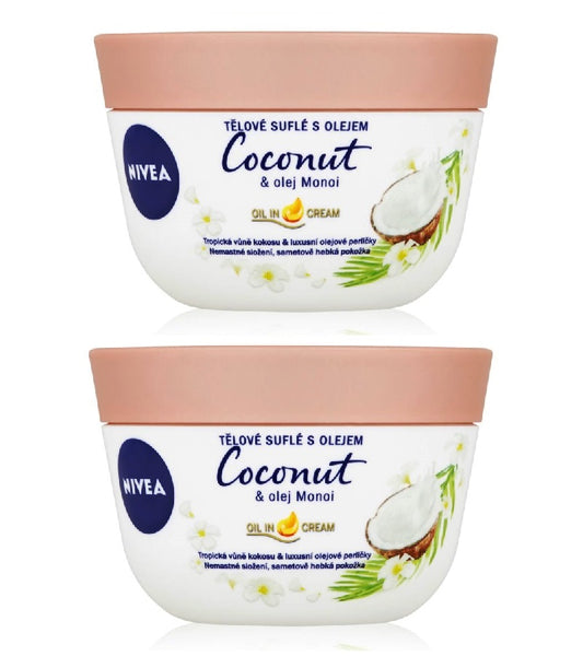2xPack Nivea Coconut & Monoi Oil Body Soufflé - 400 ml