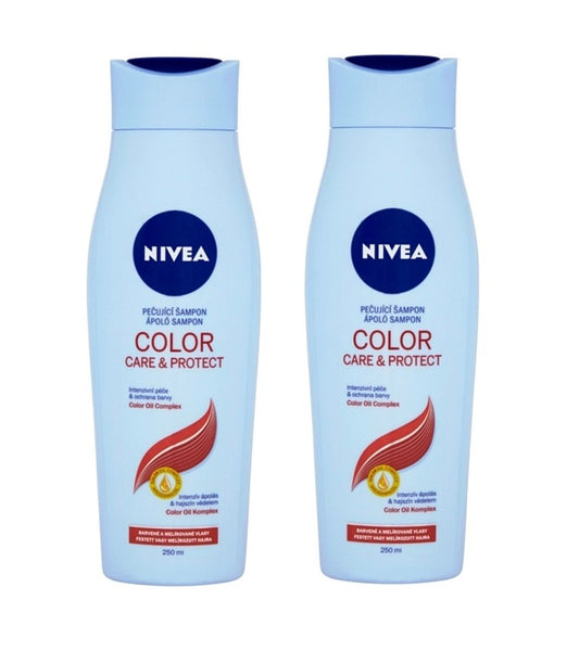 2xPack Nivea Color Care & Protect Shampoo with Macadamia Oil - 500 ml
