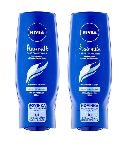 2xPack NIVEA Hairmilk Nourishing Conditioner for Normal Hair - 400 ml