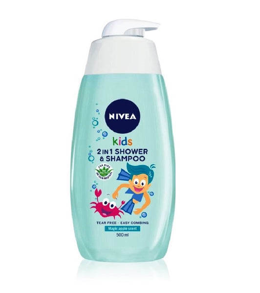 Nivea Kids Magic Apple Shampoo and Shower Gel for Children - 500 ml