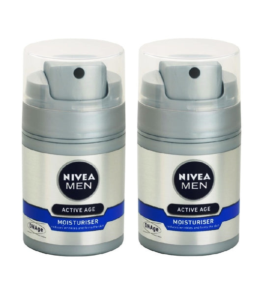 2xPack Nivea Men DNAge Skin Cream Against Wrinkles -100 ml