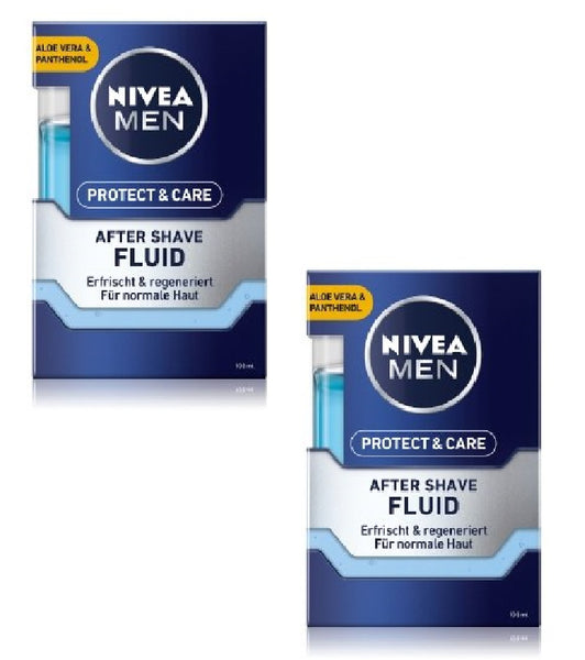 2xPack NIVEA MEN Protect & Care After Shave Fluid - 200 ml
