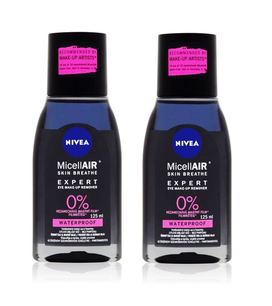 2xPack Nivea MicellAir Expert Two-phase Eye Make-up Remover - 250 ml