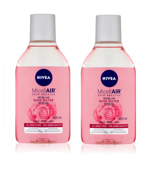 2xPack Nivea MicellAir Two-phase Rose Water - 400 ml