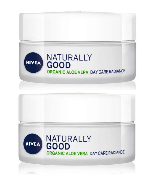 2xPack NIVEA Naturally Good Lightening Day Cream with Aloe Vera - 100 ml