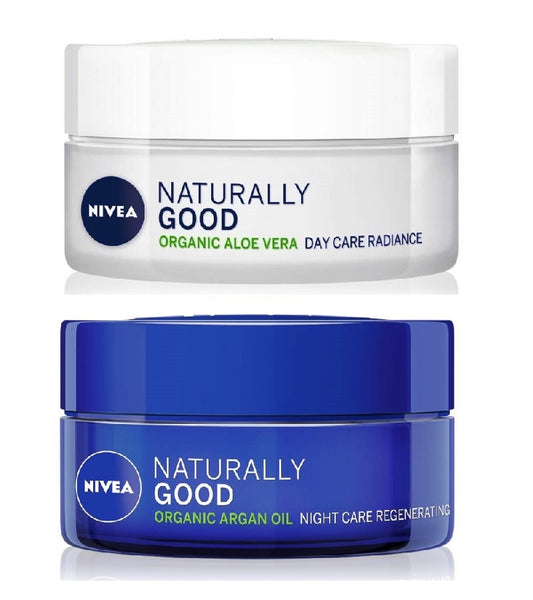 NIVEA Naturally Good Day and Night Cream Set - 100 ml
