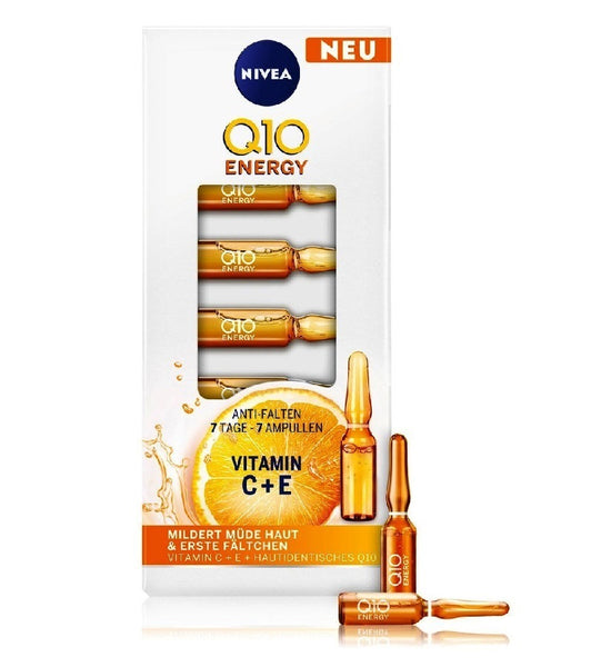 NIVEA Q10 Energy Anti-wrinkle Ampoules for Women - 7 ml