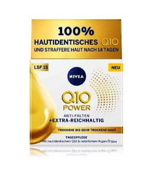 NIVEA Q10 Power Anti-Wrinkle + Extra Rich SPF 15 - 50 ml