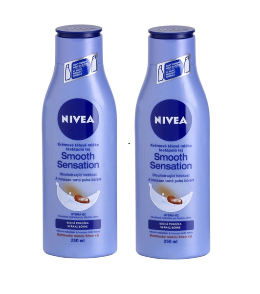 2xPack Nivea Smooth Sensation Moisturizing Body Lotion for Dry Skin - 500 ml