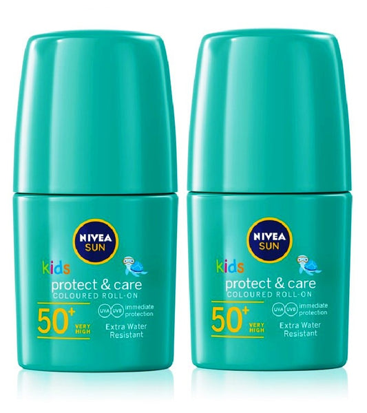 2xPack Nivea Sun Kids Waterproof Tanning Milk for Children SPF 50+