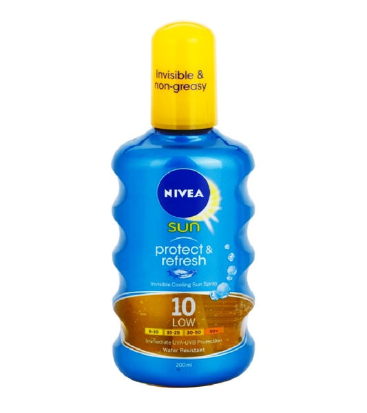 Nivea Sun Protect & Refresh Invisible Browning Spray SPF10 - 200 ml