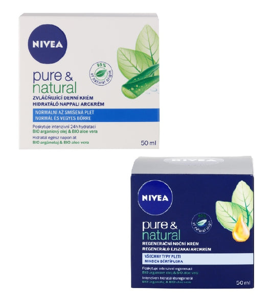Nivea Visage Pure & Natural Day & Night Cream Set for Normal Skin