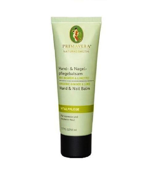 PRIMAVERA Organic Ginger & Lime Hand Nourishing Balm - 50 ml - Eurodeal.shop