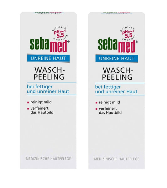 2xPack Sebamed Blemished Skin Peeling Cream - 200 ml