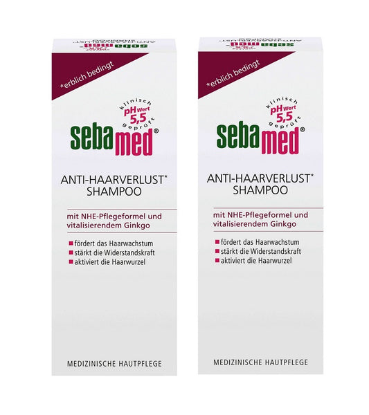 2xPack Sebamed Anti-Hair Loss  Shampoo - 400 ml