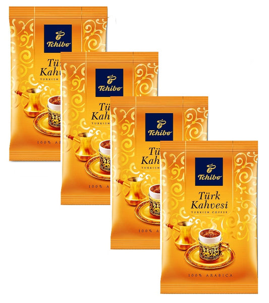 4xPack Tchibo Gourmet Türk Kahvesi (Turkish Ground Coffee) - 400 g