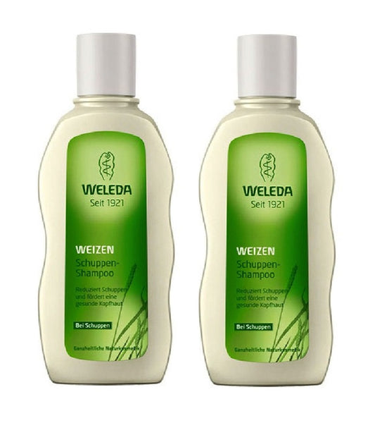 2xPack WELEDA Hair Care - Wheat Shampoo for Dandruff - 380 ml