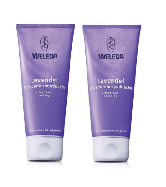 2xPack WELEDA Lavender Relaxing Shower Cream - 400 ml