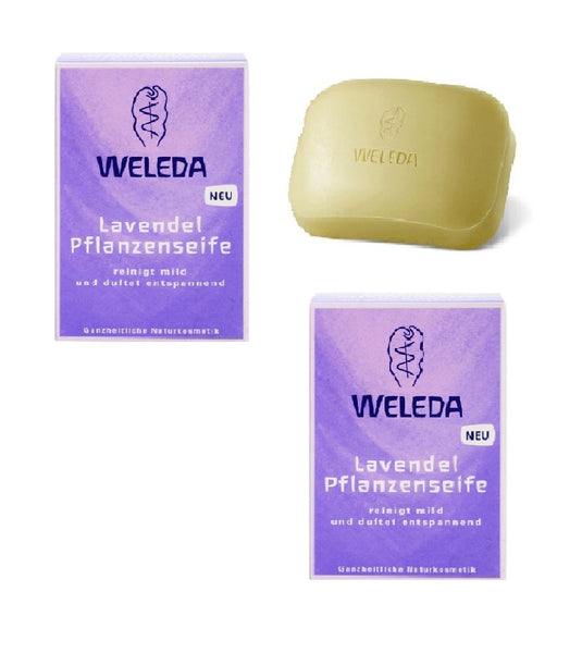 2x Pack WELEDA Lavender Scented Vegetable Soaps - 100 g each