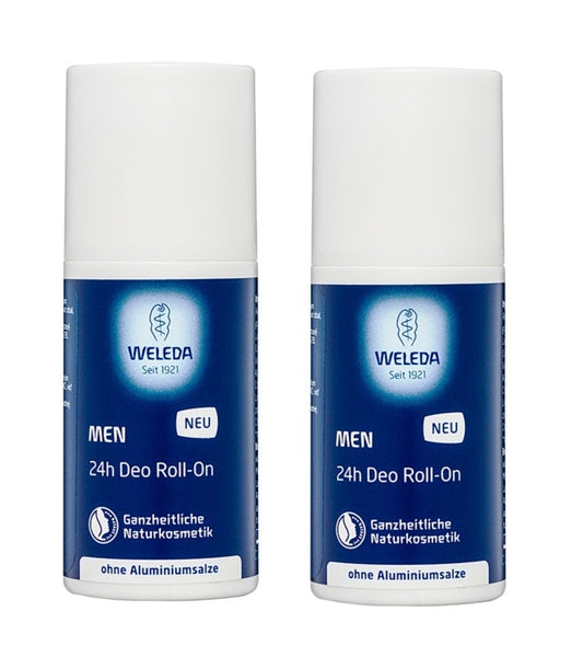 2xPack WELEDA Men Deodorant W/Out Aluminum or Salts 24 hours - 50 ml