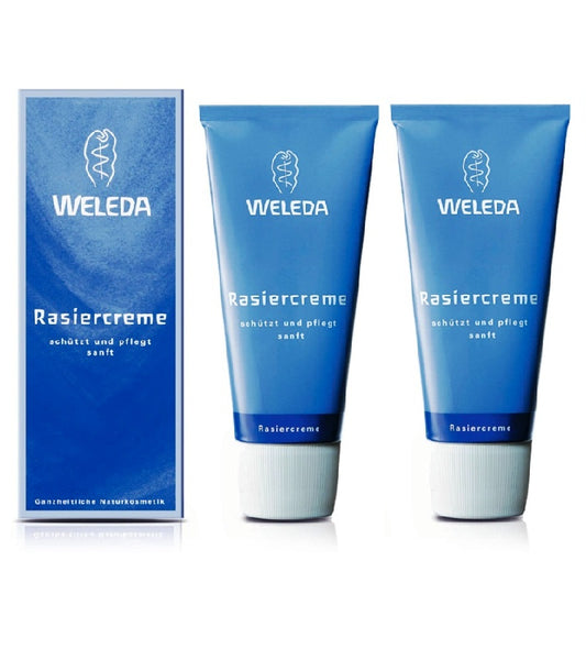 2x Pack WELEDA Men Shaving Cream for Men - 75 ml each