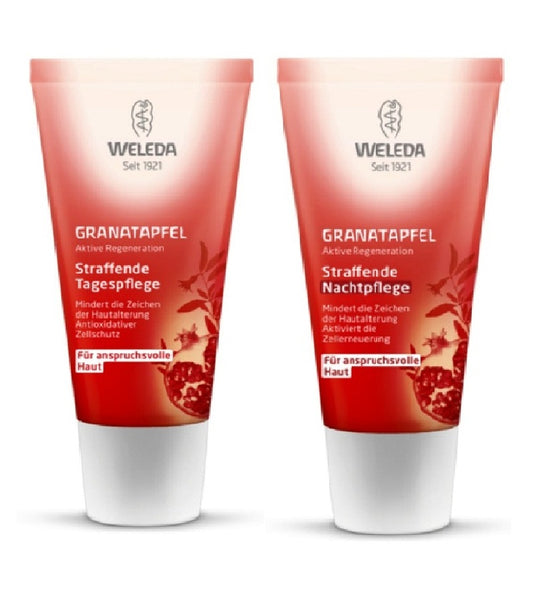 WELEDA Pomegranate Skin Firming Day and Night Cream Set - 60 ml