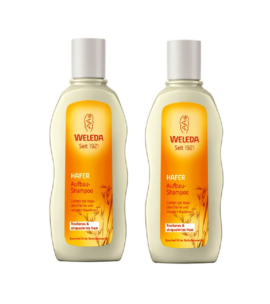 2xPack WELEDA Oat Regenerating Shampoo for Dry and Damaged Hair - 380 ml