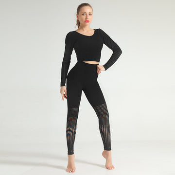 Fierce Fatal-Black Two Piece, Long Sleeve Compression Set
