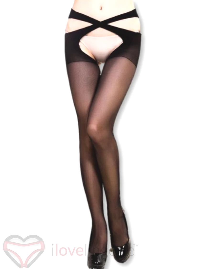 She-Woolf Hosiery, Miss Montana, Cross Hip Stockings.