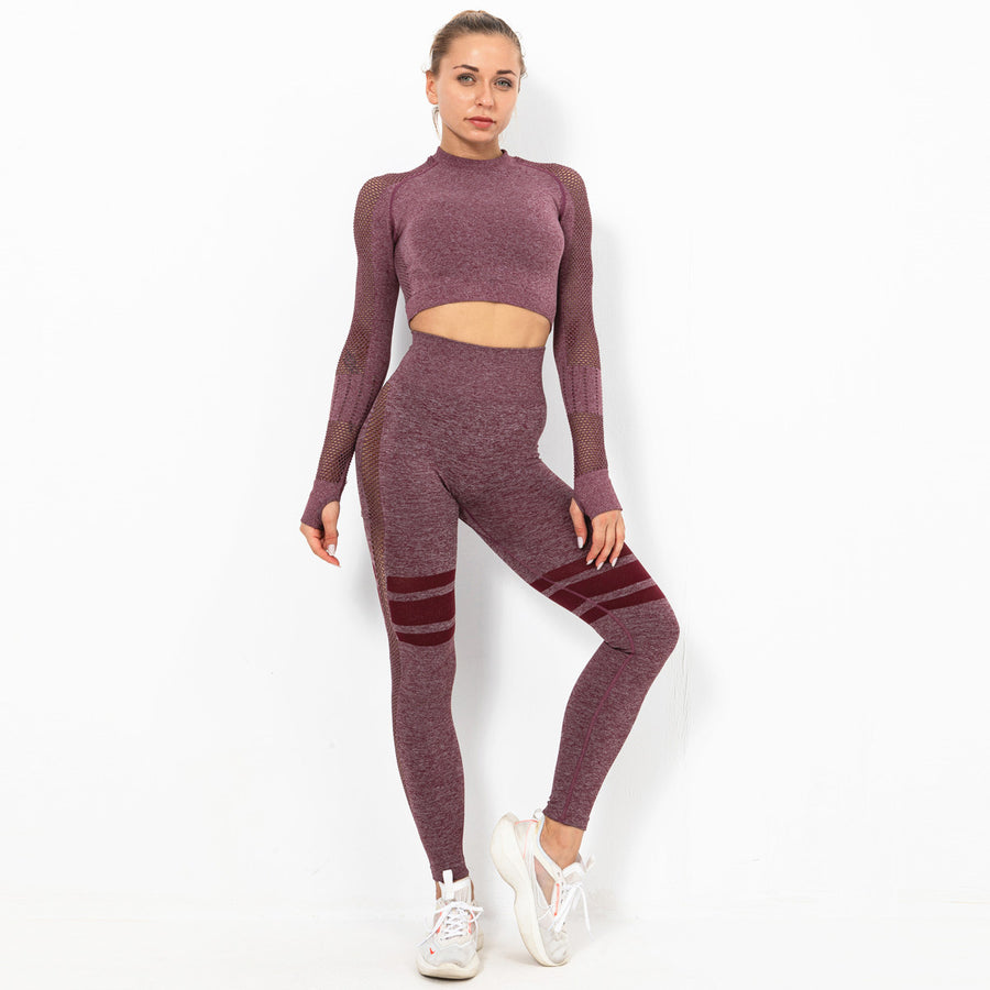 Mellow Luscious-Plum Long Sleeve Compression Set