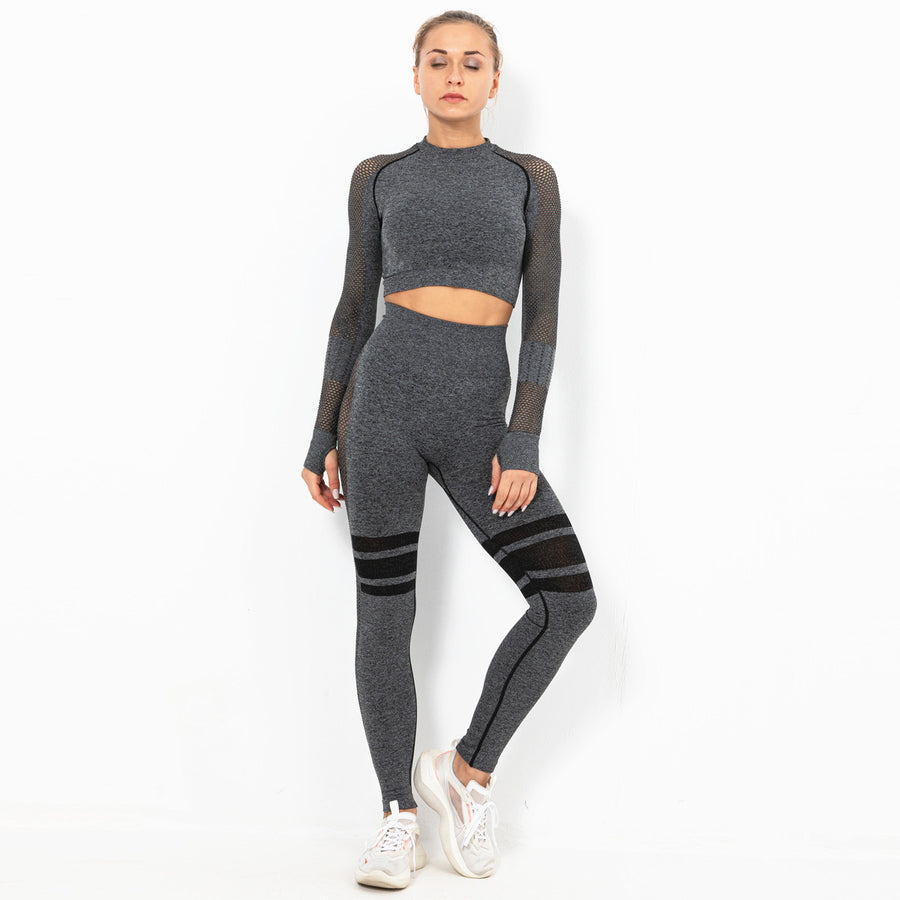Mellow Grizzled-Grey Two Piece, Long Sleeve Compression Set