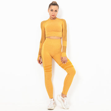 Mellow Spicy-Mustard Long Sleeve Compression Set