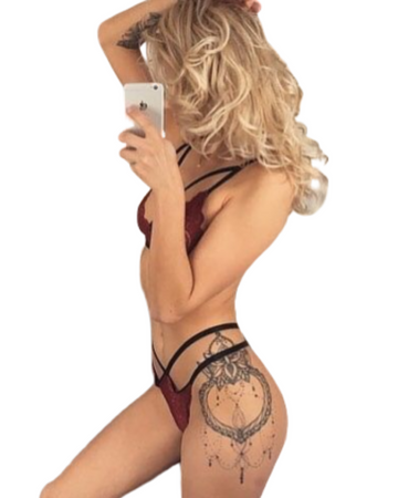 Morticia Burgundy, Body Cage Lingerie