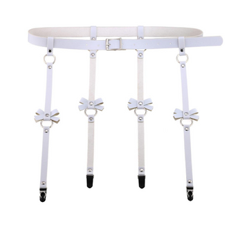 Bondage Bottega, Jannik Hanover White Leather Suspender
