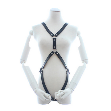 Bondage Bottega, Edith Bavaria, Black Leather Full Body Harness