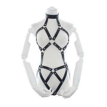 Bondage Bottega, Horst Bavaria, Black Leather Full Body Harness